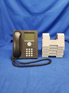 Lot of (10) Avaya 9508 Digital Display Business Phone w/ Handset & Stand  #5034