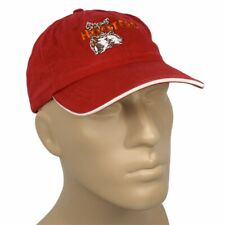 New listing Hooters Hat Morehead City NC Ball Cap Red Orange Embroidered Logo Hook & Loop
