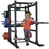 Body-Solid Extended Power Cage | Squat Rack Commercial Gym / Fitness Package