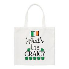 what's THE CRAIC Pequeño Bolso de mano - Divertido Irlanda Irlandés Bandera