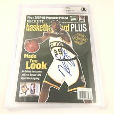 Kevin Durant Signed Beckett Magazine BAS Warriors Autographed Slabbed KD