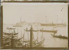 Italie, Venise, Vue du Grand Canal, 1903, vintage citrate print Vintage citrate