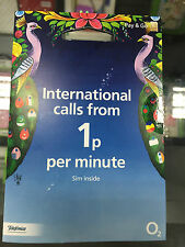 O2 02 International Sim card O2 to O2 Free Minutes and Text Keep your Credit