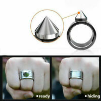 Outdoor Self-defense Stainless Ring Defense Ring Necklace Outil