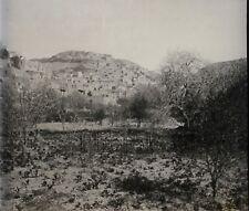 Es Salt Jordanie Transjordanie Plaque verre stereo Vintage ca 1930