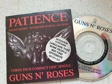 "GUNS N' ROSES, ""PATIENCE"" / ""ROCKET QUEEN"" + INTERVIEW. 3"" CD. VERY RARE !"