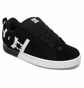 Mens DC Court Graffik SQ Skateboarding Shoes NIB Black White Black       (BWB)
