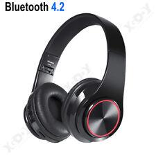 Foldable Wireless Headphone Bluetooth 5.0 Over-Ear Headset Stereo Bass Earphones