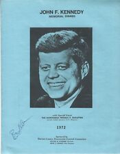 1972 JFK KENNEDY MEMORIAL DINNER INDIANA PROGRAM SIGNED BY THOMAS EAGLETON