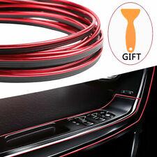Red 16Ft/5M Car Interior Door Gap Edge Line Insert Molding Trim Strip Decoration