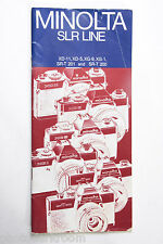 Minolta SLR Line 35mm Film Camera Sales Brochure Pamphlet XD XG SRT - USED B17