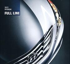 2013 Hyundai Line Original Sales Brochure - Equus Genesis Azera Sonata Veloster