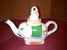 Vintage ornamental White Elephant  Teapot.