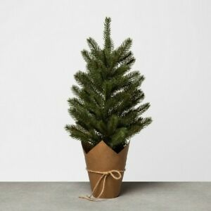 """Hearth & Hand with Magnolia Large 22"""" Faux Pine Christmas Tree with Craft Paper"""