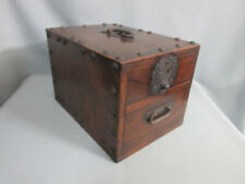 Japanese Chest antique Tansu Dansu Storage Safe Box Wood Handmade Brown F/S