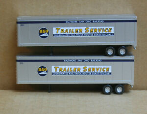 WALTHERS HO 2 Baltimore & Ohio Trailer Service 40' Trailers