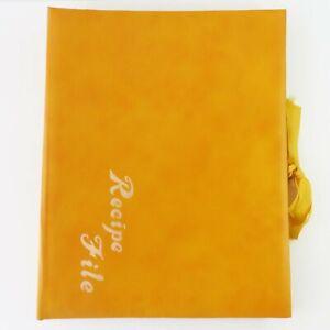 Vintage Recipe File Holder Folder, Retro Yellow/Mustard, Japan