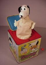 Vintage Mattel Jack in the Box Peanuts Gang Snoopy 1966 metal litho toy Restore