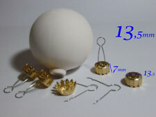NATALE GANCI ORO cappucci per palle di natale 500 pz addobbi gancetti dorati