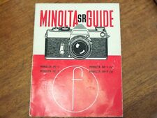 MINOLTA SR 1 7 SR1 SR7 (V) appareil photo reflex Guide Focal Press 3rd édition mai 1966