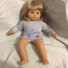 "American Girl Bitty Baby Twin Girl 15"" Doll Blonde Hair & Blue Eyes   -(a"