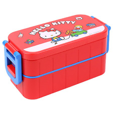 Hello Kitty 2 Layers Bento Lunch Box Container Portable + Chopsticks 300ml(10oz)