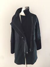 NEW MADEWELL CITY GRID COAT IN COLORBLOCK E1587 BLACK BLUE GREEN SZ 0 $298