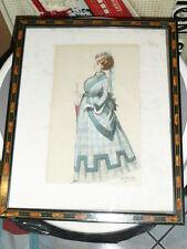Dessin de Alfred CHOUBRAC (1853-1902) costume pour le théatre opérette