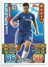 2015 / 2016 EPL Match Attax Base Card (60) Cesar AZPILICUETA Chelsea