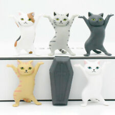 6pcs Cat Pencil Holder Coffin Dance Team Models Toys Diy Desktop Cat Ornament