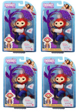Fingerlings SET 4  Wholesale Limited Edt. Monkey Liberty Red White Blue Glitter