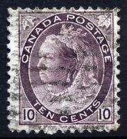 Canada SG163 1898 Cat £15 QV 10 cents Pale Brownish Purple Very Used