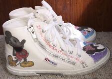 Women's Shoes Disney Mickey Minnie Hand Painted In USA Art to Wear Sz 38 US 7.5