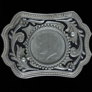 Kennedy Half Dollar JFK Coin Cowboy Art Western Gift Vintage Belt Buckle
