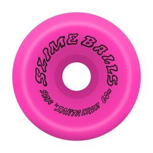 Santa Cruz SLIME BALLS SCUDWADS VOMITS Skateboard Wheels 60mm 95a PINK