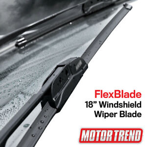 "Motor Trend Car Wiper Blades Size 18"" All Season Bracketless Car Direct Connect"