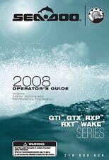 Sea-Doo Owners Manual Book 2008 GTI, GTX, RXP, RXT & WAKE SERIES