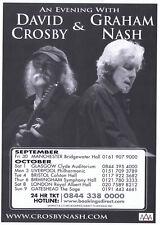 David Crosby and  Graham Nash  UK Concert Tour 2011   Playbill  Flyer  RARE