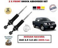 FOR NISSAN NAVARA D40 2.5 3.0 dCi 2005-> 2X FRONT LEFT RIGHT SHOCK ABSORBER SET
