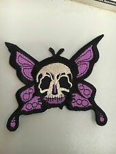 Iron On Patch -  Purple Goth Butterfly