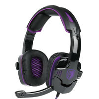 Gaming Headset for PS4 PC 3.5mm with Mic Noise Isolating Deep Bass