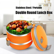 2-Layers Thermal Insulated Stainless Steel Lunch Food Container Bento Box US