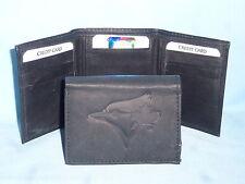 TORONTO BLUE JAYS    Leather TriFold Wallet    NEW    black 3  m1