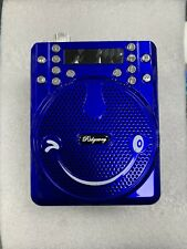 Bluetooth FM Portable PA Radio Speaker Rechargeable USB SD AUX Mic Antenna Blue