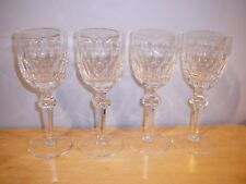 """4 Waterford Crystal Curraghmore Claret Wine 7 1/8"""""""