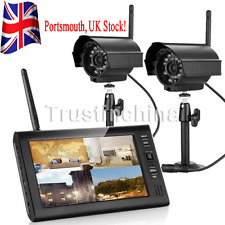 "7""TFT LCD 4CH CCTV DVR Wireless Security System IR Night Vision Outdoor Camera"