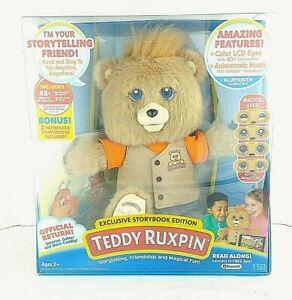 Teddy Ruxpin Animated Talking Storytime Bear Bluetooth LED Eyes 3 Storybooks