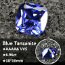 6.96ct AAAAA VVS Loose Gemstone Unheated Royal Blue Tanzanite 10mm Jewelry Cut