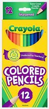 4 PACK, Crayola Colored Pencils, Long Lasting Premium Qaulity, 12-Color Set.