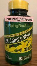 St. John's Wort 300mg 0.3% Hypericin Standardized Extract 180 Capsules